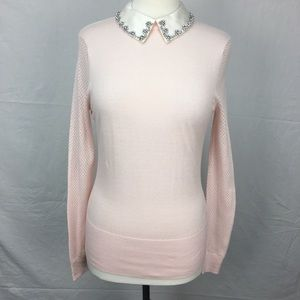 Ted Baker Pink Braydey Embellished Collar Sweater